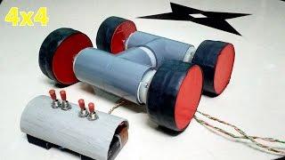 getlinkyoutube.com-How to Make a Powerful 4x4  Remote Control Car at home