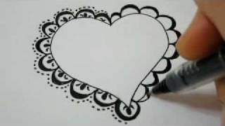 getlinkyoutube.com-How To Draw A Lace Heart - How To Draw Fancy Lace Around a Heart