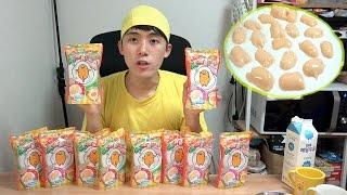 포핀쿠킨/가루쿡[구데타마 계란 느림보 20마리 만들기]허팝(Popin cookin heart-GudeTama Pudding ぐでたまプリン)