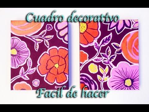 Como pintar un cuadro decorativo (FACIL)