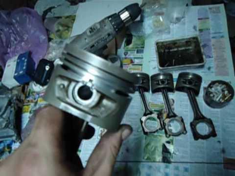 Как установить кольца от ВАЗ на двигатель Nissan GA16DE