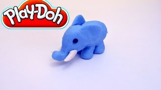 getlinkyoutube.com-Play-Doh Blue Elephant - How to make a Play-Doh Elephant step-by-step