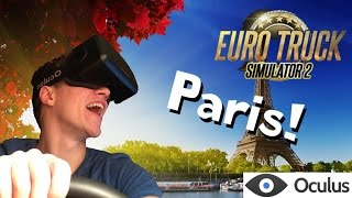 getlinkyoutube.com-Driving to Paris in Eurotruck Simulator 2 with Oculus DK2 support!