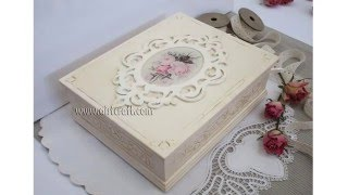 getlinkyoutube.com-Decoupage tutorial - DIY.  How to use  Ice resin in decoupage. Imitation ivory. Vintage box.