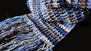 getlinkyoutube.com-How to: Crochet Waffle Stitch Scarf