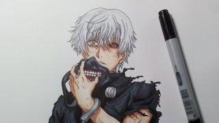 getlinkyoutube.com-Drawing Kaneki Ken from Tokyo Ghoul