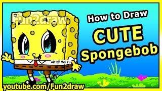 getlinkyoutube.com-Learn to Draw Spongebob Step by Step Easy - Cute Cartoons - Fun2draw Art Lessons