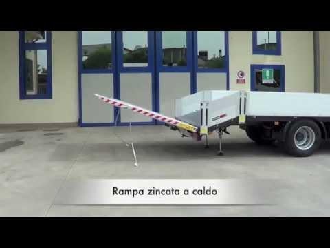 Iveco Daily 2 assi - Allestimento per trasporto mini escavatori con rampa posteriore