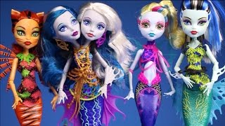 getlinkyoutube.com-New Monster High Dolls Collection 2015 Video Great Scarrier Reef 4 Dolls Unboxing Review