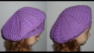 getlinkyoutube.com-How to crochet beret Tutorial