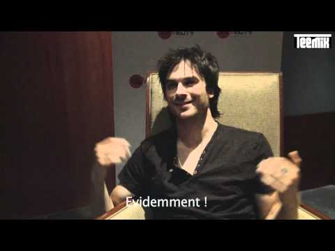 Ian Somerhalder Teemix interview in Paris : &quot;I want Damon and Elena to kiss again !&quot;