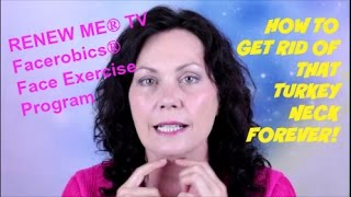 getlinkyoutube.com-Eliminate your Turkey Neck Forever with this FACEROBICS® Face Exercise for Turkey Neck | FACEROBICS®