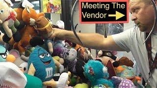 Claw Machine Winning- Watching The Vendor FILL The MACHINE Crazy WINS!!!!!