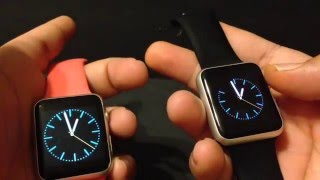 IWO MTK2502C vs Real Apple Watch 42MM 1080P HD w/Link