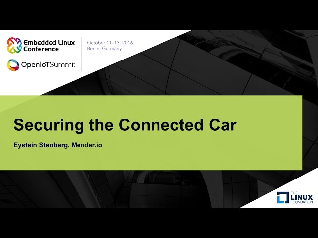 Securing the Connected Car