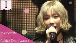 getlinkyoutube.com-【Full Cut】[1080p] 160120 [SNSD] TAEYEON (MC - Seohyun) - Golden Disk Awards