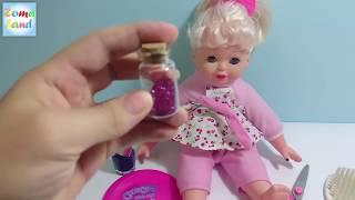 getlinkyoutube.com-العاب اطفال | العاب بنات | لعبة قص شعر العروسة  Baby games | Girls toys | Baby doll cut hair
