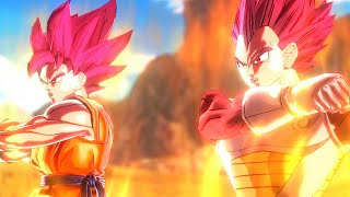 getlinkyoutube.com-Super Saiyan God Goku and Super Saiyan God Vegeta Fusion!(DBXV Mod)