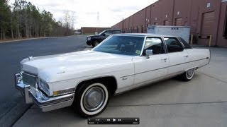 getlinkyoutube.com-1973 Cadillac Fleetwood Brougham Start Up, Exhaust, and In Depth Review