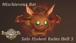 getlinkyoutube.com-Mischievous Bat Solo Hydeni Ruins Hell 5 Summoners War 魔靈召喚 心術 蝙蝠 夏依德尼遺址