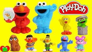 getlinkyoutube.com-LEARN Colors with Sesame Street Play Doh Microwave Surprises