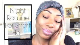 getlinkyoutube.com-My Night Routine 2016 | Short Relaxed Hair