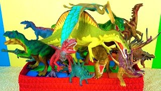 getlinkyoutube.com-Learn about Dinosaurs - DINOSAUR Toy Box - What's in the Box?