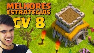 getlinkyoutube.com-MELHORES ESTRATÉGIAS DE ATAQUE PRA CV 8 DO CLASH OF CLANS !!