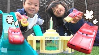 getlinkyoutube.com-カーズ おもちゃ カラーチェンジャーズ ペイントショップ 水遊び  Cars McQueen Color Changers Ramone's Playset Toy