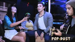 "getlinkyoutube.com-Karmin perform ""Crash Your Party"" on the POPDUST Party Bus"