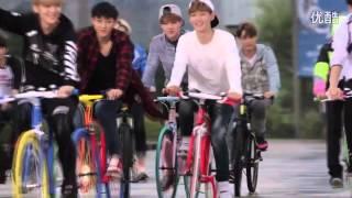 getlinkyoutube.com-[HD] 140910 EXO AIMA Bicycle CF Photoshoot BTS Making Film