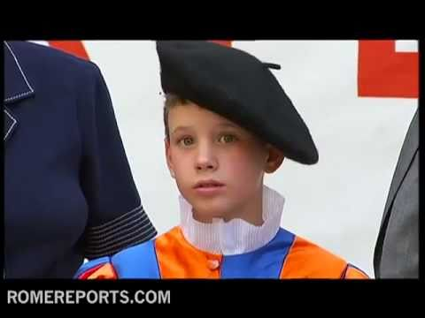 Children get ready to become young  'Swiss Guards' to welcome pope to WYD Madrid 2011