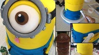 getlinkyoutube.com-How to make / bake a Despicable Me Minion cake step by step tutorial ~ Part 1
