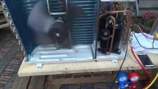 getlinkyoutube.com-DIY Air to water heatpump first test run