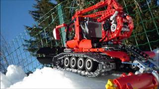 getlinkyoutube.com-Winter Special - Lego MAN 4x4 snow edition & Pistenbully 500 polar - Trailer HD