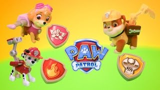getlinkyoutube.com-PAW PATROL Nickelodeon Paw Patrol Skye, Marshall, and Rubble Pup Packs Toys Video Unboxing