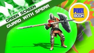 Green Screen Guard Spear Shield Defends Attacks - Footage PixelBoom