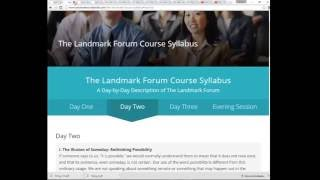 getlinkyoutube.com-The Landmark Forum - (the good, the bad and the ugly)