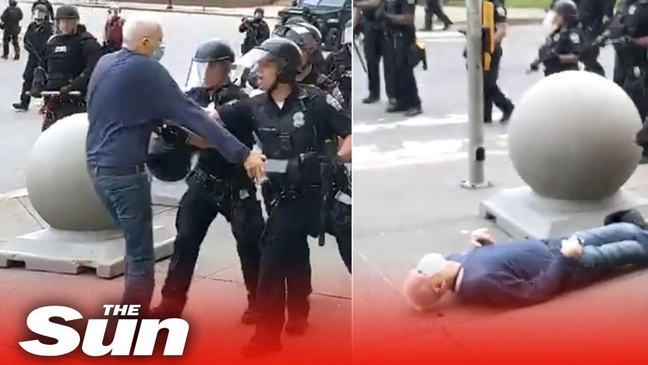 Elderly Man Shoved to the Ground