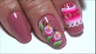 getlinkyoutube.com-Dois lindos e rápido modelinhos de unhas decoradas