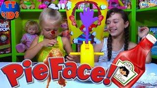 getlinkyoutube.com-Челлендж Пирог в Лицо от Ярославы Развлечения для детей - Fun Activity Kids Challenge Pie FACE