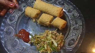 HOW TO MAKE VEG SPRING ROLLS-CRISPY-RECIPE IN HINDI