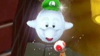 getlinkyoutube.com-Super Luigi Galaxy 100% Walkthrough - Part 10  - Gold Leaf & Sea Slide Galaxy