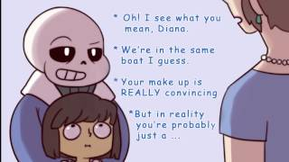 getlinkyoutube.com-Undertale - PTA Sans vs Diana (Comic Dub)