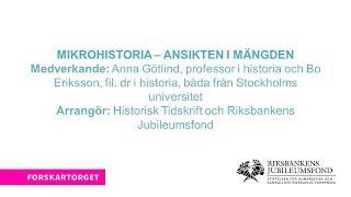 Forskartorget 2017 - Mikrohistoria – Ansikten i mängden