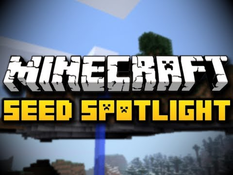 Minecraft Seed Spotlight #27 - WATERFALL FLOATING ISLAND! (HD)