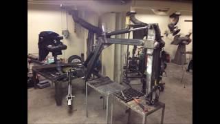 getlinkyoutube.com-Homemade towable backhoe / excavator Project development