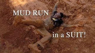 getlinkyoutube.com-3 Mile Zombie Mud Run in a suit with Larry Pickett, Jeff Teague and Zack Teague