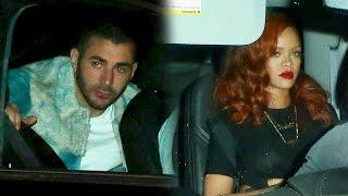 getlinkyoutube.com-Rihanna And Soccer Star Karim Benzema Share Romantic Dinner At Giorgio Baldi