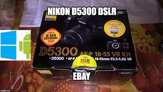 Nikon d5300 24.2 MP DSLR with AF-S 18-55mm VR2 lens kit unboxing